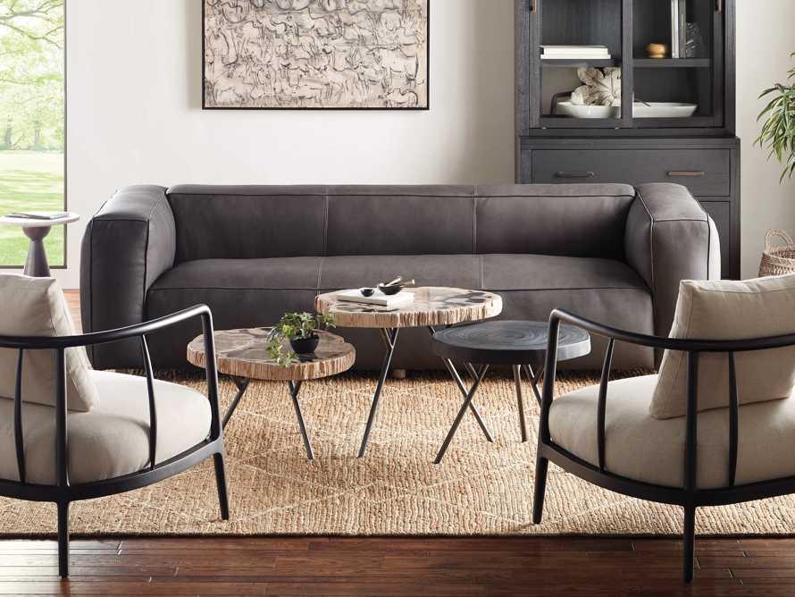 "Mangata Petrified Wood Single Table with 18"" Base, slide 7 of 9"