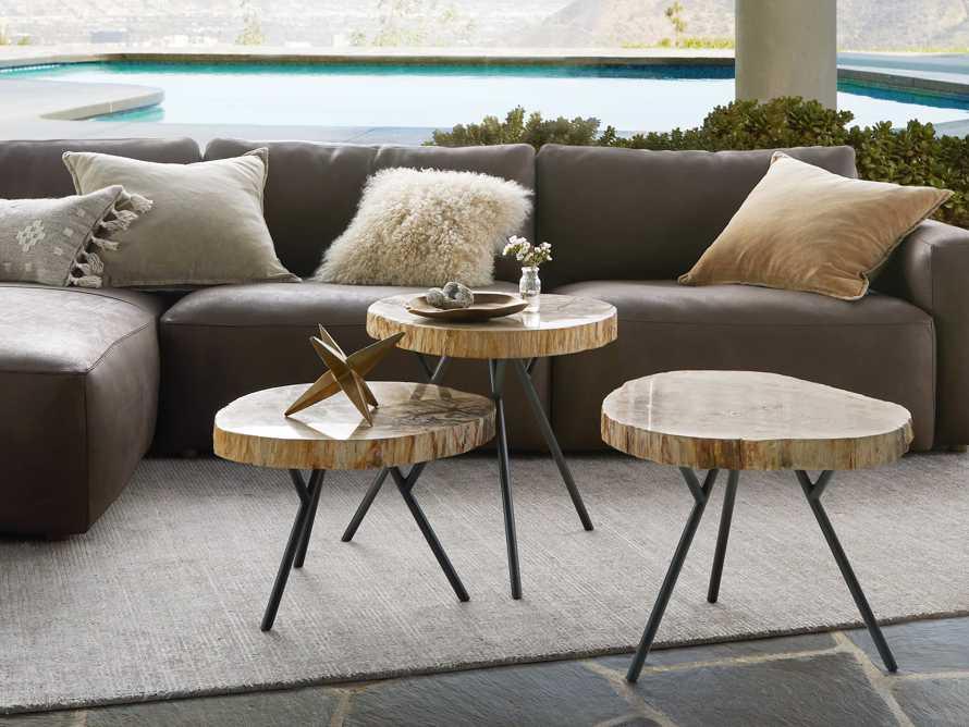 "Mangata Petrified Wood Single Table with 18"" Base, slide 1 of 9"