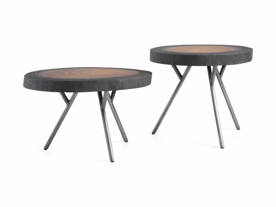 "Mangata Half Shou Sugi Ban Suar Table Duo 14"" and 16"" Bases, slide 1 of 2"