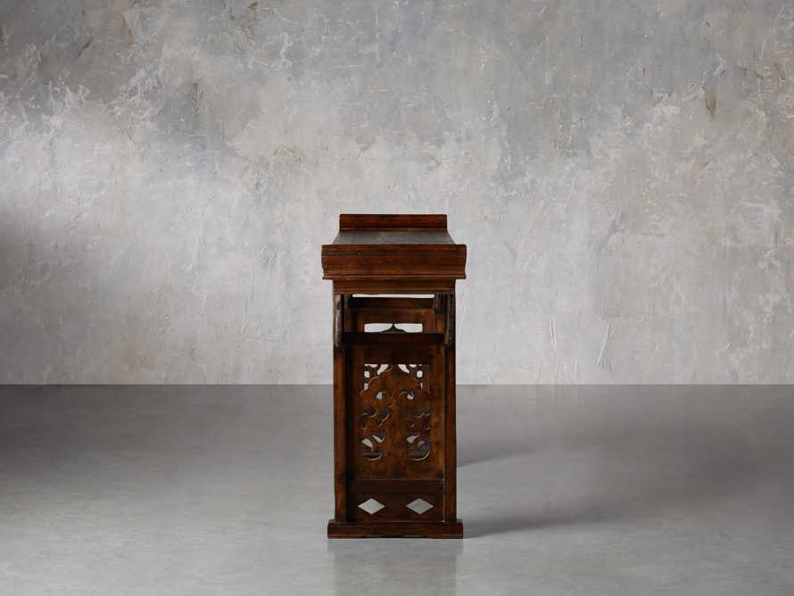 """Ming 86"""" Altar Table in Blackened Honey, slide 3 of 9"""