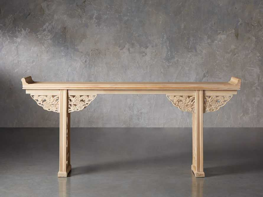 "Ming 86"" Altar Table in Natural Pine, slide 2 of 10"