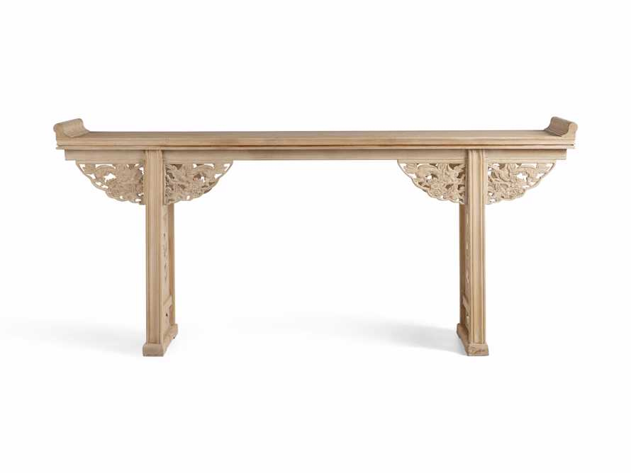 "Ming 86"" Altar Table in Natural Pine, slide 9 of 10"