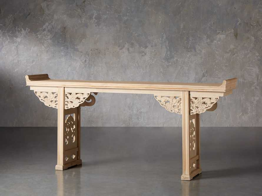 "Ming 86"" Altar Table in Natural Pine, slide 3 of 10"