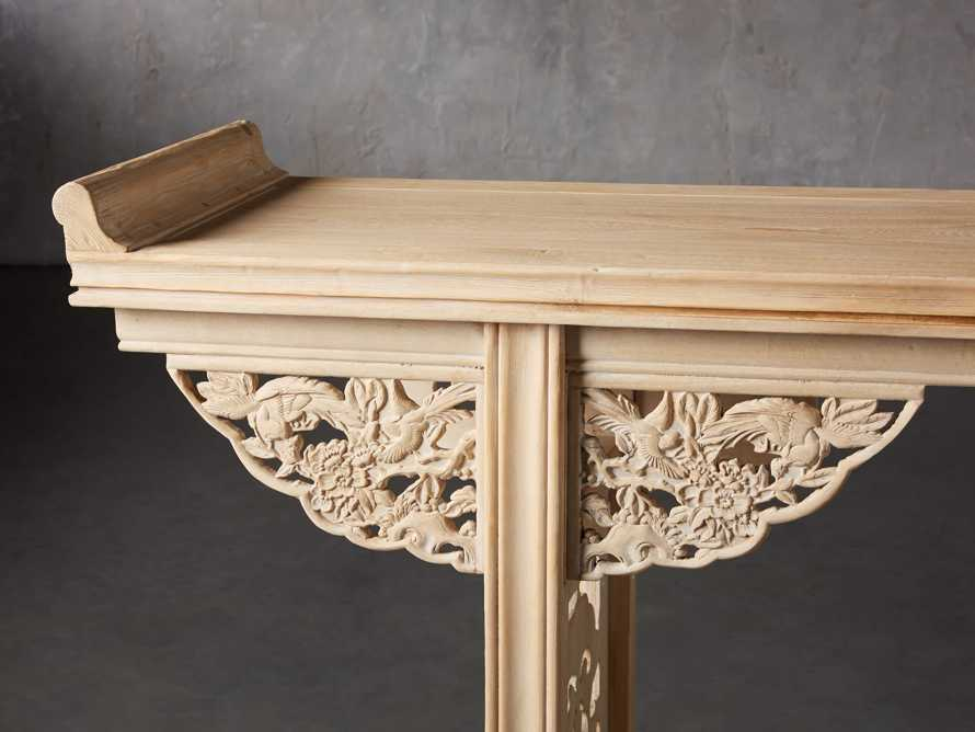 "Ming 86"" Altar Table in Natural Pine, slide 6 of 10"