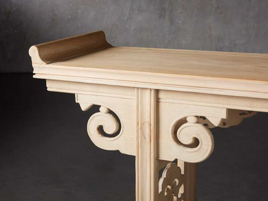 "Ming 86"" Altar Table in Natural Pine, slide 7 of 10"