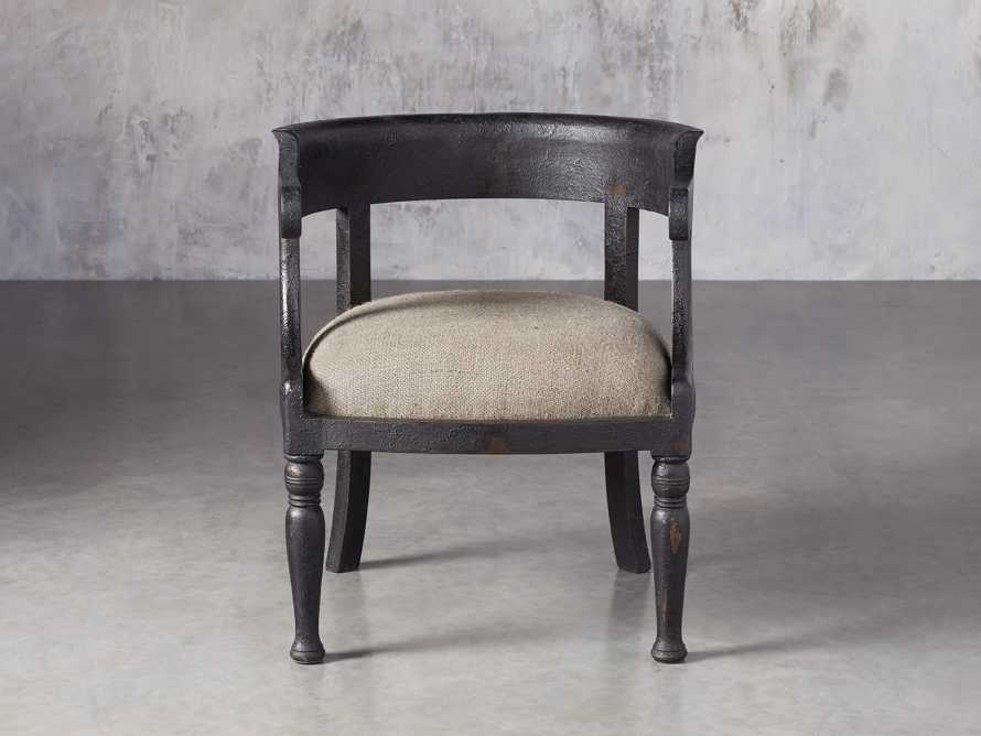 "Merle 26"" Accent Chair in Baroque Black, slide 1 of 9"