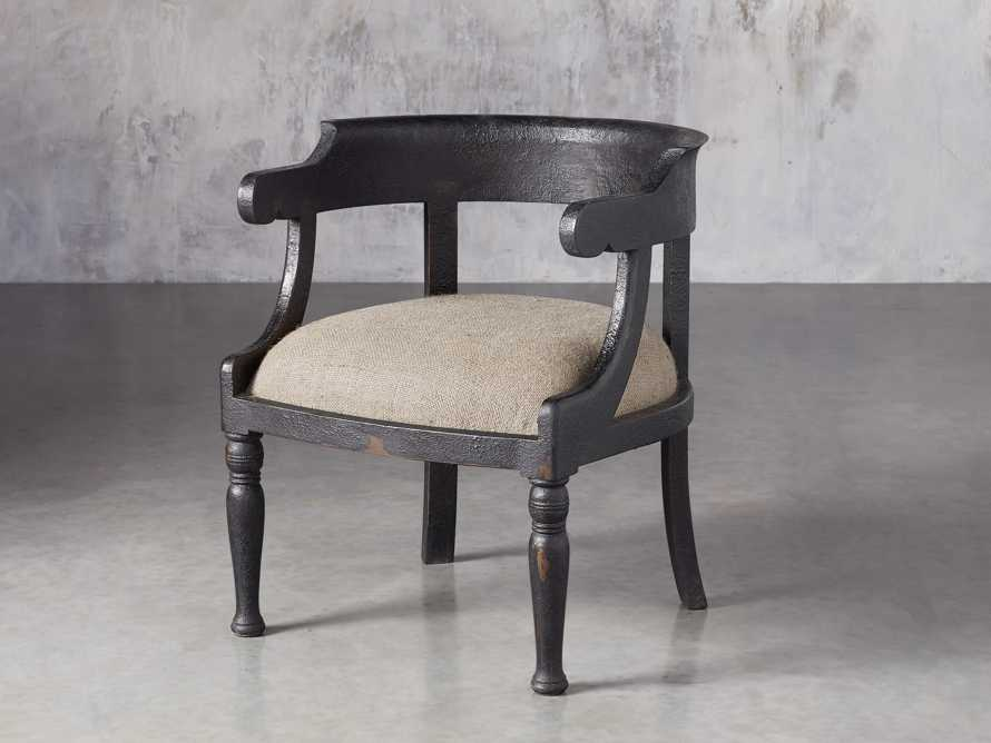 "Merle 26"" Accent Chair in Baroque Black, slide 2 of 9"