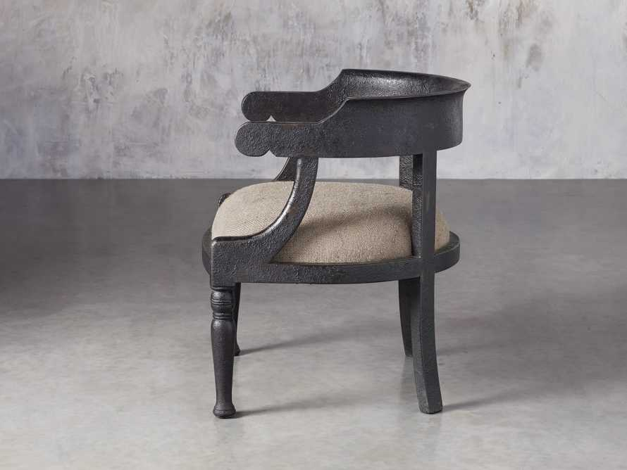 "Merle 26"" Accent Chair in Baroque Black, slide 3 of 9"