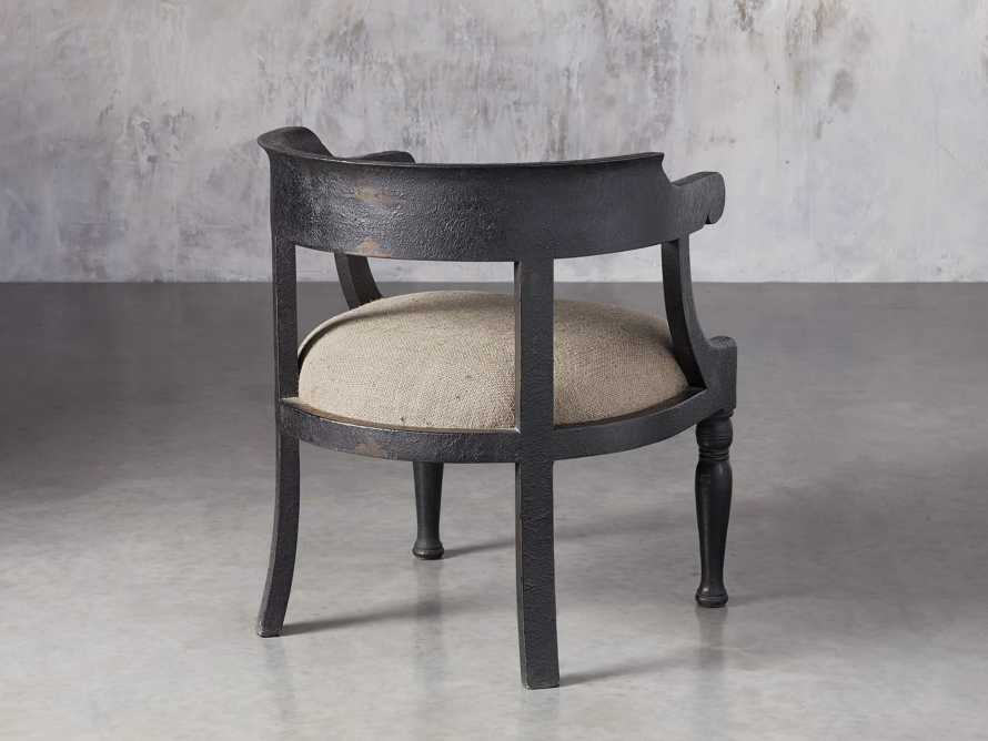 "Merle 26"" Accent Chair in Baroque Black, slide 4 of 9"