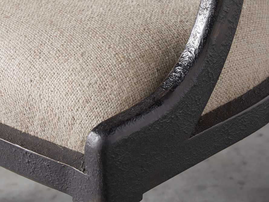 "Merle 26"" Accent Chair in Baroque Black, slide 7 of 9"