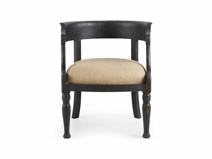 "Merle 26"" Accent Chair in Baroque Black, slide 8 of 9"