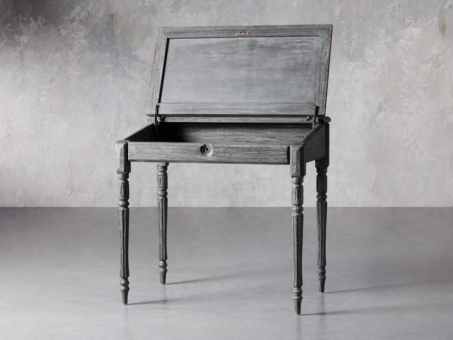 "Merle 35"" Writing Desk in Baroque Black, slide 3 of 8"