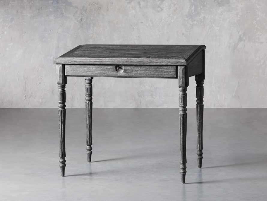 "Merle 35"" Writing Desk in Baroque Black, slide 2 of 8"