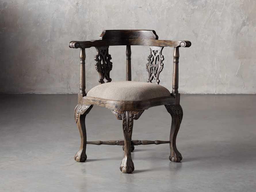 Merle Corner Chair in Brown, slide 1 of 9