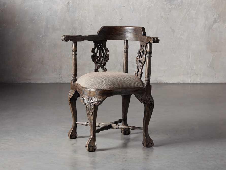 Merle Corner Chair in Brown, slide 2 of 9