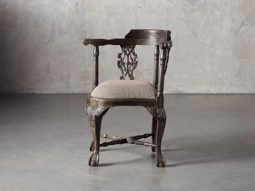 Merle Corner Chair in Brown, slide 3 of 9