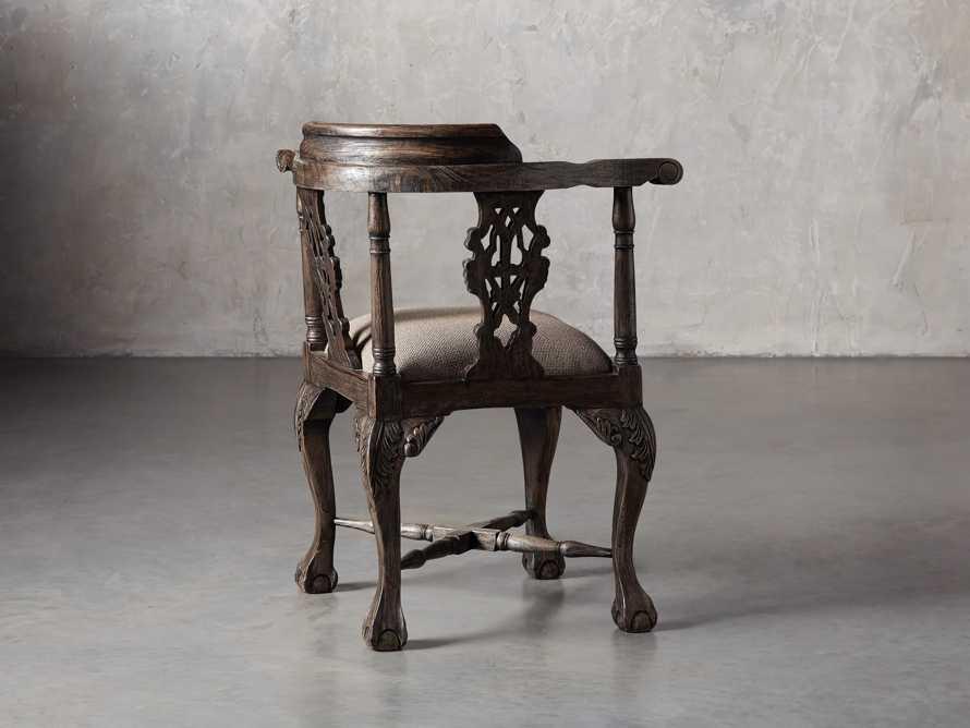 Merle Corner Chair in Brown, slide 4 of 9