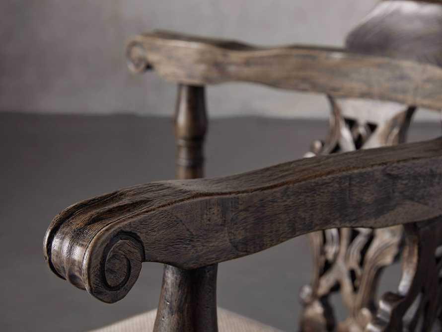Merle Corner Chair in Brown, slide 5 of 9