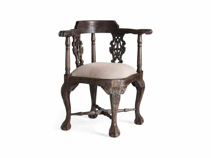 Merle Corner Chair in Brown, slide 8 of 9