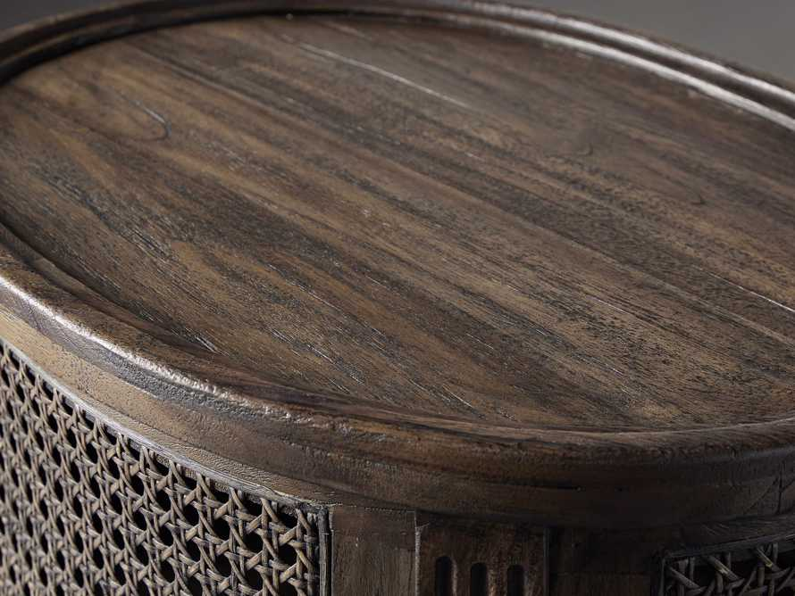 Merle Caned End Table in Brown