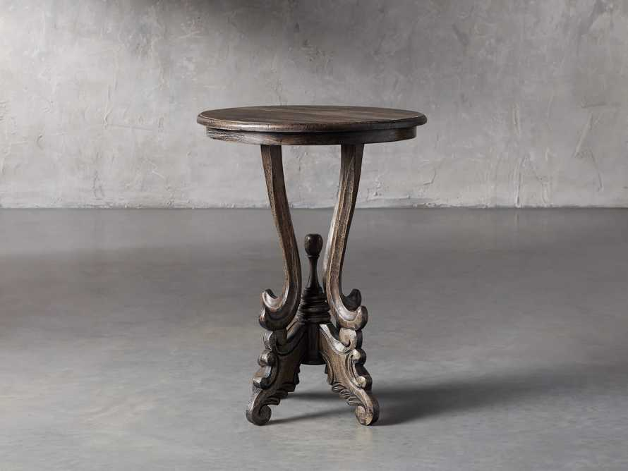 Merle Round End Table in Brown