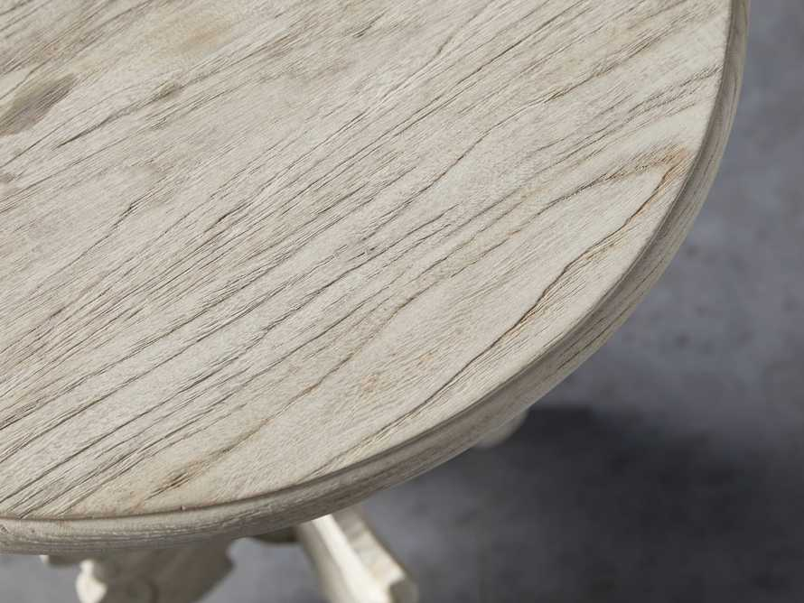 "Merle 20"" Round End Table in Flax"