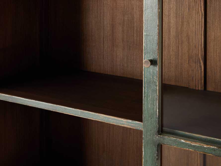 """Merritt 80"""" Glass Cabinet in Sage Green, slide 3 of 5"""