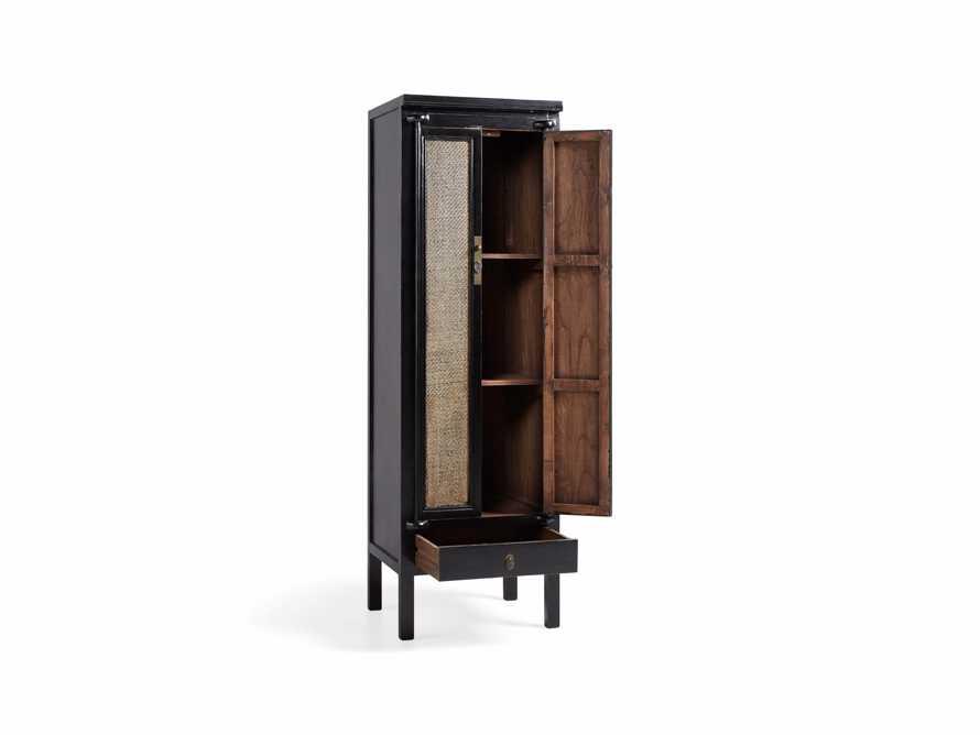 "Rattan 24"" Cabinet in Black"