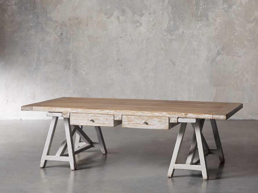"Remy 62"" Sawhorse Coffee Table, slide 2 of 12"