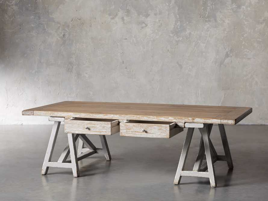 "Remy 62"" Sawhorse Coffee Table, slide 3 of 12"