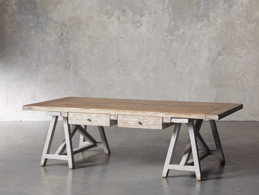 "Remy 62"" Sawhorse Coffee Table, slide 5 of 12"