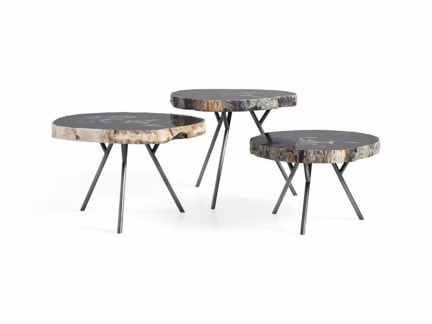 Trio Petrified Coffee Table Set in Black