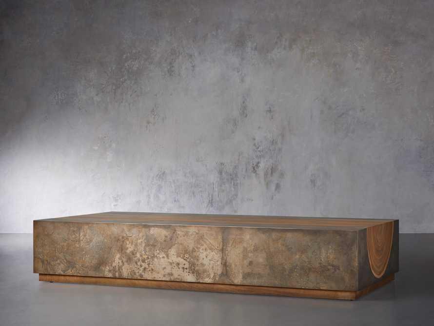 "Acacius 80"" Wood Coffee Table, slide 2 of 5"