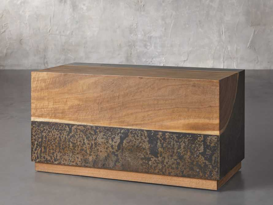 """Acacius 38"""" End Table, slide 2 of 6"""