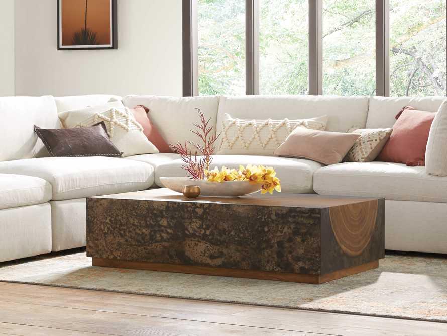 "Acacius 55"" Wood Coffee Table, slide 1 of 8"
