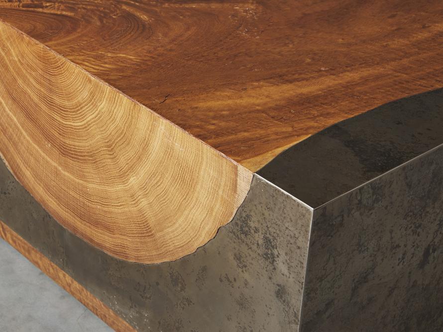 "Acacius 55"" Wood Coffee Table, slide 4 of 7"