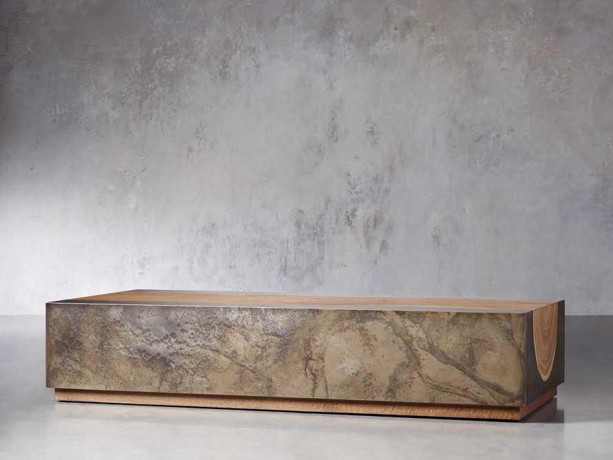 "Acacius 72"" Wood Coffee Table, slide 2 of 5"