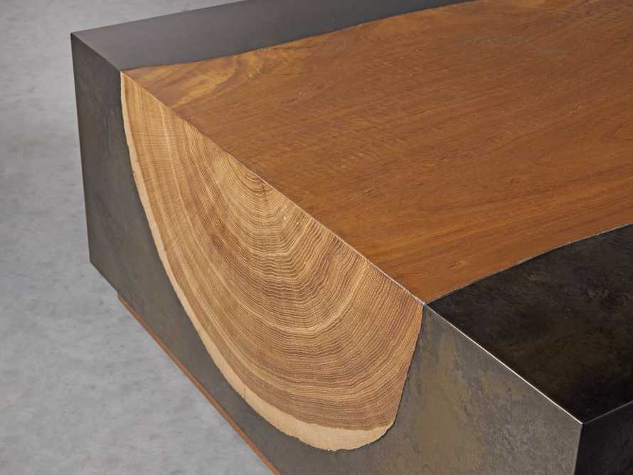 "Acacius 72"" Wood Coffee Table, slide 3 of 5"