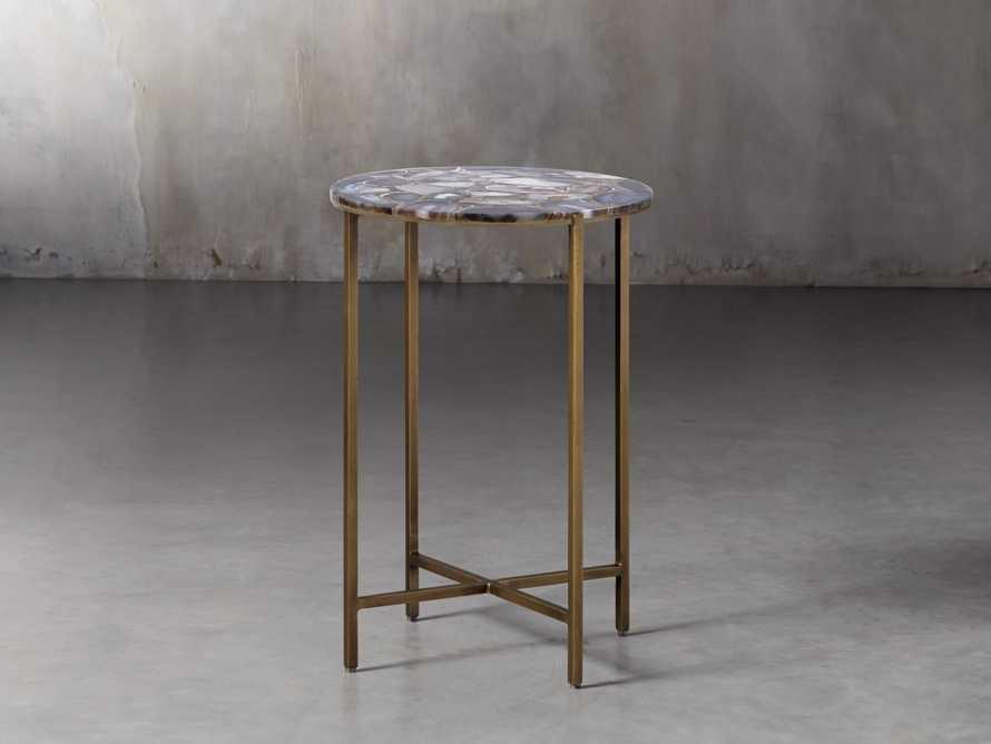 "Agate 14"" Martini Table in Black, slide 1 of 6"