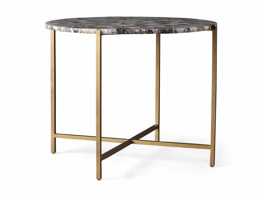 """Ludlow Agate 27"""" End Table in Black, slide 3 of 4"""
