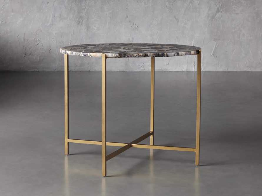 """Ludlow Agate 27"""" End Table in Black, slide 1 of 4"""