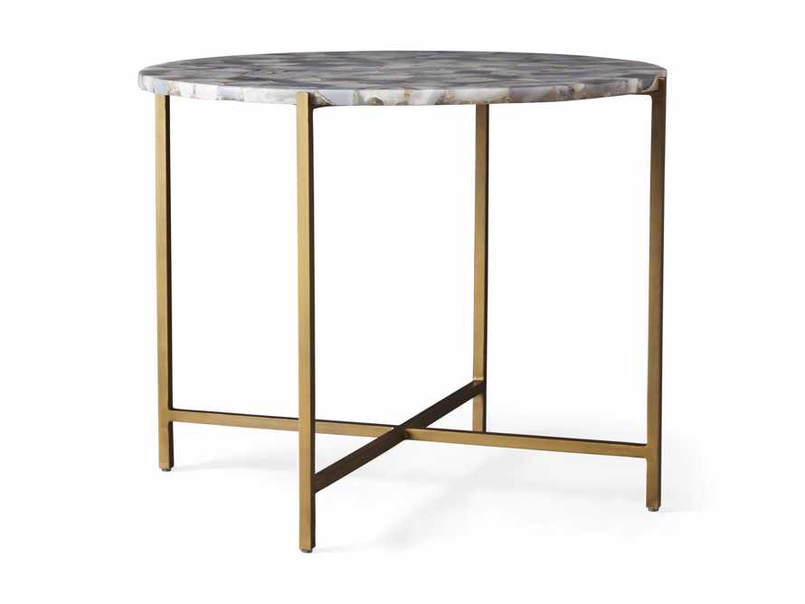 """Ludlow Agate 27"""" End Table in Grey, slide 3 of 4"""