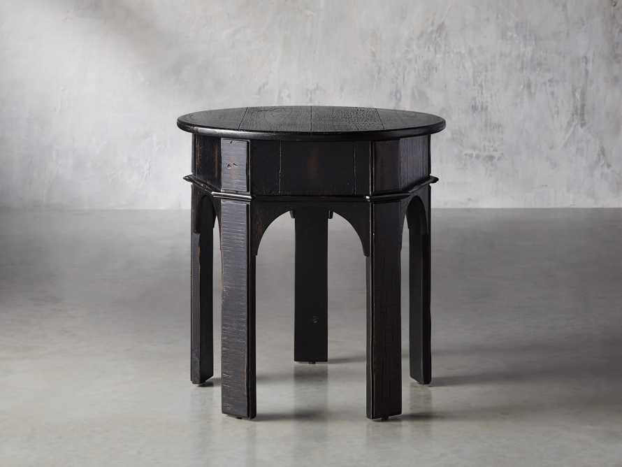 "Allegro 24"" End Table In Rubbed Noir, slide 1 of 5"