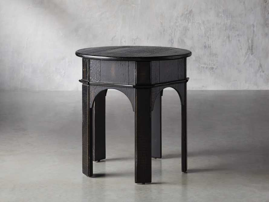 "Allegro 24"" End Table In Rubbed Noir, slide 2 of 5"