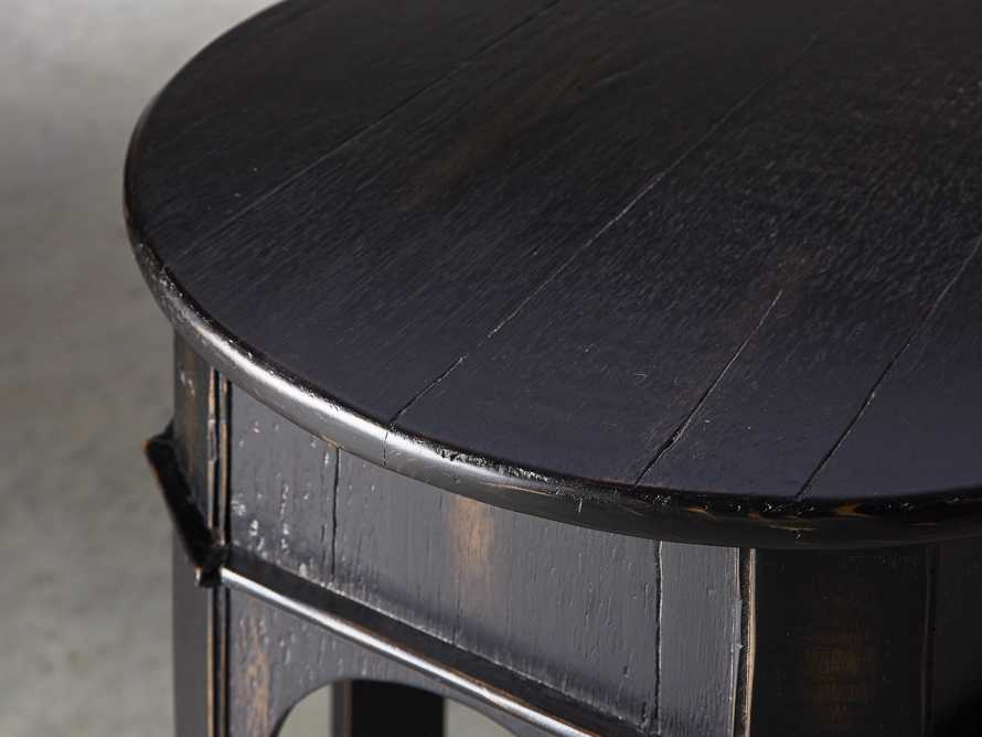 "Allegro 24"" End Table In Rubbed Noir, slide 4 of 5"