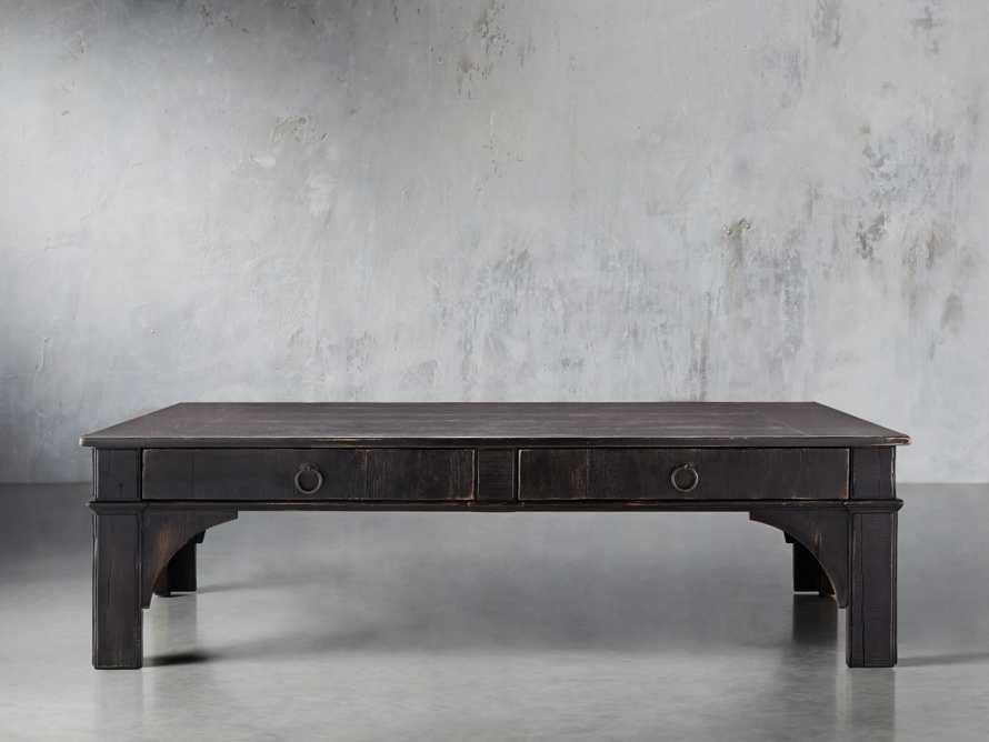 "Allegro 63"" Coffee Table In Rubbed Noir, slide 1 of 2"