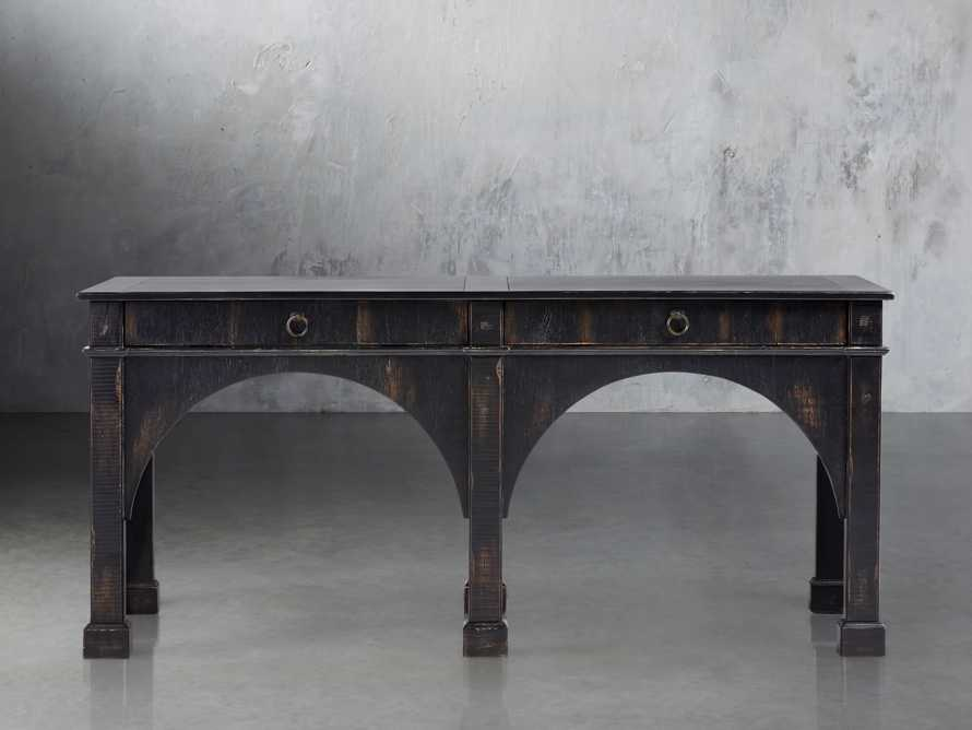 "Allegro 75"" Console Table In Rubbed Noir, slide 1 of 2"
