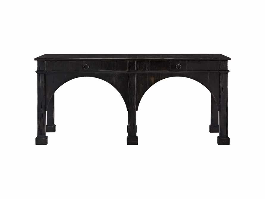 "Allegro 75"" Console Table In Rubbed Noir, slide 2 of 2"