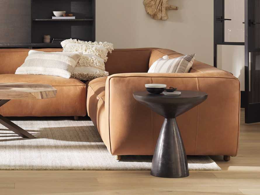 """Amina 21"""" Aluminum End Table in Black Nickel Plated, slide 3 of 6"""
