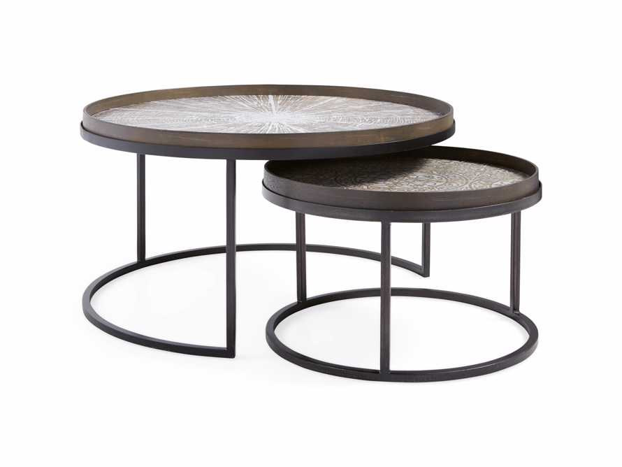Arnhem Black Slice and Aged Mirror Nesting Coffee Table
